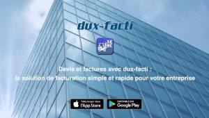Devis et factures avec dux-facti sur iPhone, iPad et Android